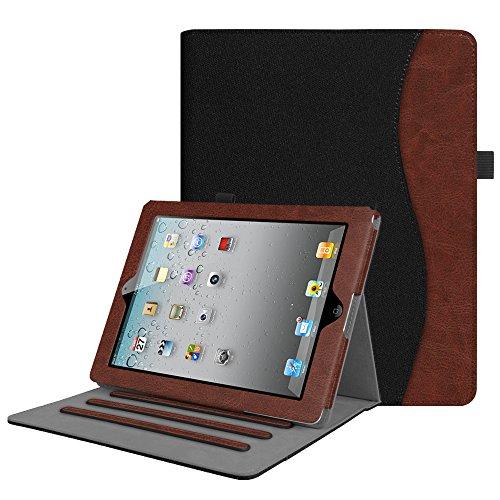 Fintie Hülle für iPad 2 / iPad 3 / iPad 4 - [Eckenschutz] Multi-Winkel Betrachtung Folio Stand Schutzhülle Cover Case mit Dokumentschlitze, Auto Schlaf/Wach Funktion, Denim Schwarz (Case Stand Ipad)