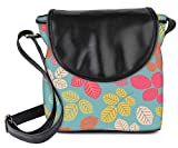 Snoogg Colorful Leaves Womens Sling Bag Small Size Tote Bag