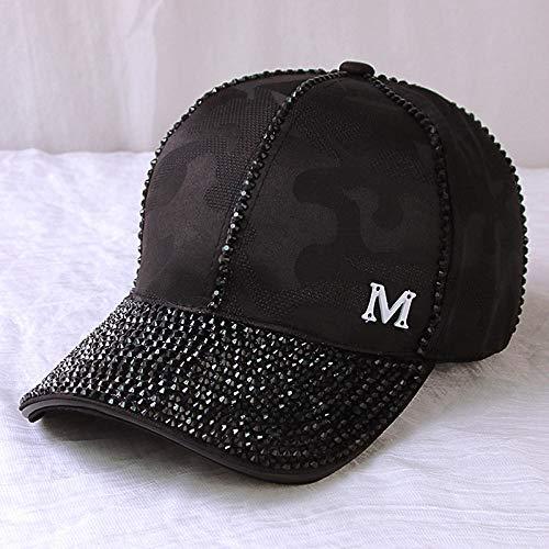 Weiblich Kostüm Baseball - mlpnko Hut weibliche Original Hand Bohrmaschine Baseball Cap weibliche Wild Cap Reisen Sonnenhut schwarz M (54-59cm)