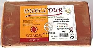 Arteo 38471 Argile Autodurcissante Solari Durci 'Dur Plastique Rouge