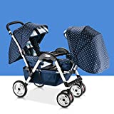Lightweight Twins Stroller Double Baby Stroller to Sit Face to Face, 2 Seats Baby Carriage Pushchair for 0-36 Months Kids (C) immagine