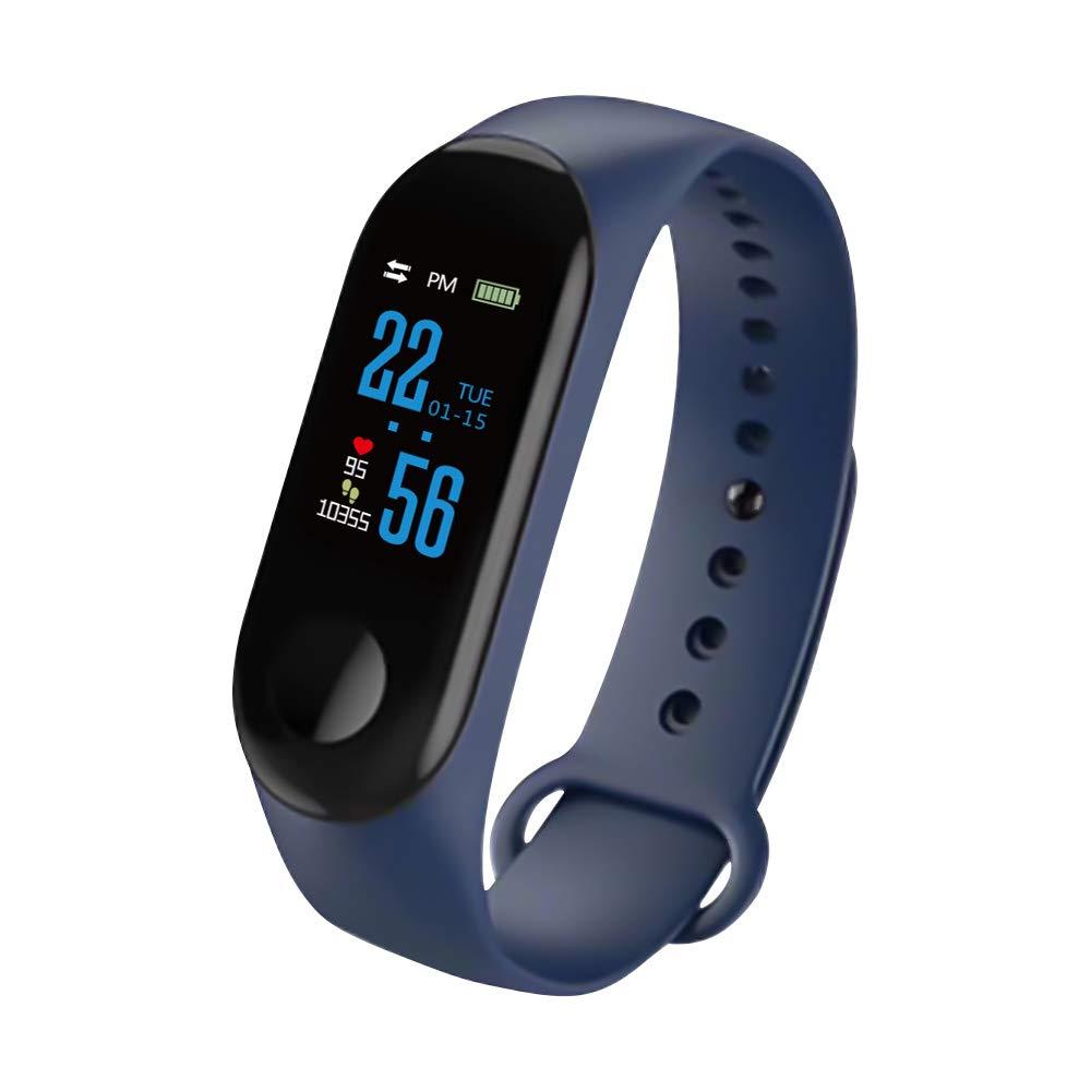 Konesky Fitness Tracker Monitor de Ritmo cardíaco Pulsera de presión Arterial Actividad Reloj Podómetro Contador de… 1