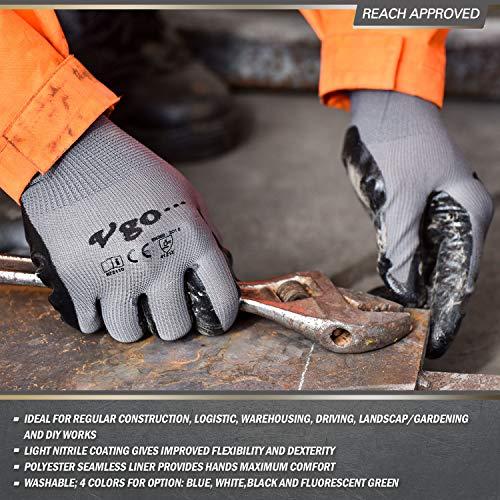 Guantes de trabajo antideslizantes industria del autom/óvil taller blanco reparaciones Blanco trabajos finos negro gris talla 6-11 sin costuras