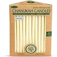 Rite–Lite Judaica ecológico mano sumergido pura cera Natural Chanukah Hanukkah velas/45velas por caja