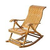 Hechgobuy Relaxsessel Freizeit S-Typ vertikaler Barstuhl Bambus Schaukelstuhl alt Mittagessen Pause Stuhl Massivholz Schaukelstuhl Lehnstuhl,
