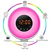 Aipker Wake Up Light, Sunrise Alarm Clock with FM Radio Snooze Function 7