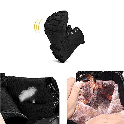 QIANGDA Inverno Stivaletti Stivaletti Uomini Punta Rotonda Giovane Maschio Scarpe Nere ( Colore : Black thicken , dimensioni : EU38 = UK5.5 ) Black thicken