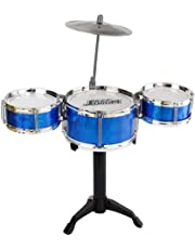 PLAY CUBE Mini Jazz Drum Instruments Set Kit Musical Toy (Random Color)