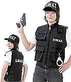 SWAT Einsatzweste, SWAT Team - Weste für Karneval, Fasching, Spiel (128)