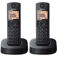 Panasonic TGC312SPB- Teléfono Fijo Inalámbrico Dúo (LCD, Identificador De Llamadas, 16H Uso Continuo, Localizador, Agenda De 50 números, Bloqueo Llamada, Modo ECO, Reducción Ruido)- Color Negro