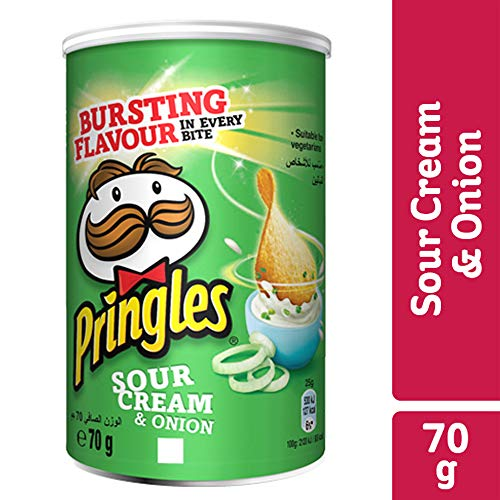 Pringles Sour Cream & Onion, 12er Pack (12 x 70 g) (Onion Sour Cream Chips)