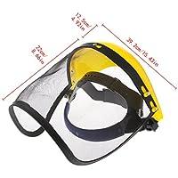 qiuxiaoaa Face Shield Mesh Visor Browguard Ideal para desbrozadora Trimmer Strimmer Shield Pantalla de Malla de Alambre Amarillo