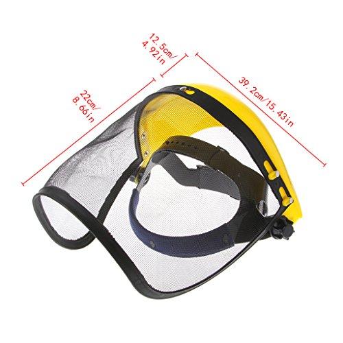 Zchenchen Face Shield Mesh Visor Browguard, ideal für Freischneider, Trimmer, Trimmerschutz mit Daily Face-Fit Technologie