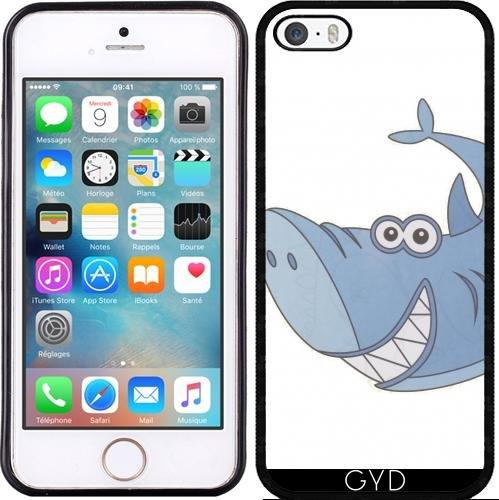 Custodia in silicone per Iphone 7 / Iphone 8 - Grande Squalo Cartone Animato Blu by Martinspixs Silicone