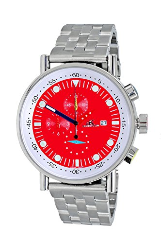 Adee Kaye Men's Quartz Stainless Steel Sport Watch, Color:Silver-Toned (Model: AK2268-40_RD)
