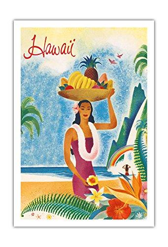 Pacifica Island Art Hawaii - Hawaii Besucher Reisebroschüre - Vintage Retro Welt Reise Plakat c.1952 - Kunstdruck - 76cm x 112cm