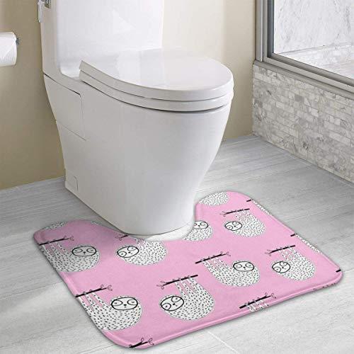 Uosliks Custom Non-Slip Toilet Rug Night Sky U-Shape Absorbent Floor Mat Soft Cushion Shower Mat Polyester Bath Rug for Bathroom -