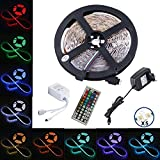 Alfa Lighting 5 m LED  flessibile striscia 150 LED cambia colore RGB SMD5050 LED light strip kit RGB 5 m con 42 tasti telecomando IR e 12 V 2 a alimentazione