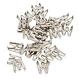 F Fityle 30 Pcs Buchstaben Nieten, Schmucknieten Ziernieten Punk Spikes M W N Z P J für DIY Fertigkeit Lederhandwerk - M
