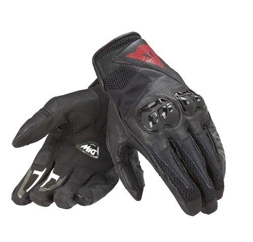 *Dainese Mig C2 Unisex Motorradhandschuhe, Schwarz/Weiß/Schwarz, Größe M*