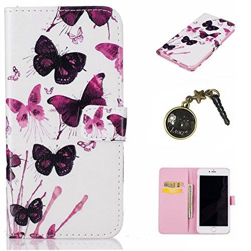 PU Silikon Schutzhülle Handyhülle Painted pc case cover hülle Handy-Fall-Haut Shell Abdeckungen für Apple iPhone 7 Plus (5.5 Zoll) +Staubstecker (1WW) 5