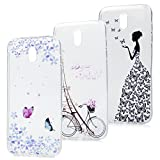 J5 2017 Hülle YOKIRIN Case Cover für Samsung Galaxy J5 2017 J530 Case 3X Ultra Dünn Slim Fit Durchsichtig Transparent TPU Silikon Handytasche Handyhülle Etui Protective Backcover Schale Turm