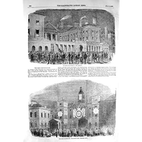 GUARDIE 1856 DI CAVALLO DI ILLUMINAZIONI DI PACE WHITEHALL LONDRA