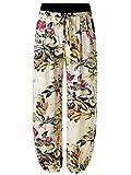 BAISHENGGT-Pantalones Bombachos para Mujer con Bolisllos