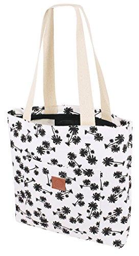 Original  T-BAGS Thailand Strandtasche | Einkaufstasche | 15 coole Designs passend zu unseren Hipster Turnbeuteln | hochwertig, stylisch (Kokospalme)
