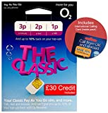 O2 (2G/3G/4G) UK & Europe Trio SIM PAYG £30 (Convert to Bundle - 20GB Data, 3000 mins, 3000 Texts) + International Calling Card - (Love2surf Retail Pack)