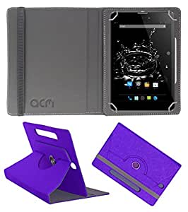 ACM Designer Rotating Leather Flip Case for Micromax Funbook Ultra Hd P580 Tablet Cover Stand Purple