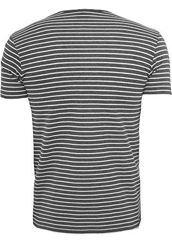TB642 Open Edge Stripe Tee Streifen T-Shirt cha/wht