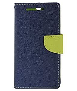TBZ Wallet Flip Cover Case for Gionee A1 -Blue