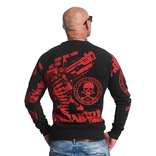 Yakuza Original Herren Armory Pullover Sweater Schwarz