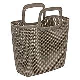 """Curver """"Knit"""" Einkaufstasche aus Kunststoff (PP), mit 2 Henkel, Inhalt ca. 15 l braun"""