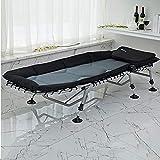 Eeayyygch Klappbett für Mittagspause oder Einzelbett Siesta Bett Babysitter Bett, Dicke Legierung, Schaumstoffmatratze faltbar, Siehe Abbildung, Einheitsgröße