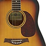 Guitare Acoustique Dreadnought Deluxe par Gear4music Acajou
