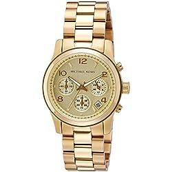 Michael Kors MK5055 - Reloj de cuarzo con correa de acero inoxidable para mujer, color dorado