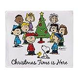 CafePress–The Peanuts Gang: ist Weihnachten hier–Weiches Fleece Überwurf Decke, 127x 152,4cm Stadion Decke, weiß, 50x60