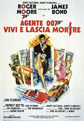 Replica placa Vintage agente 007Vive y deja morir (Dim. 28x 20cm)