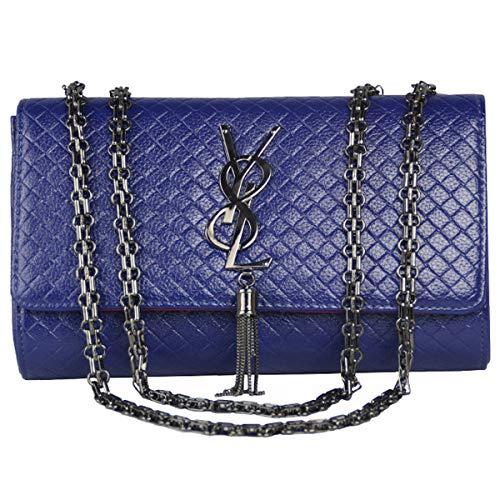 GLYW 2018 Herbst und Winter neue Damen Kette Tasche Mode Umhängetasche Messenger Bag (26 cm * 17 cm * 7 cm, Blau) (Bag Gucci Messenger)