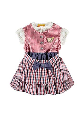 Steiff Collection Mädchen Kleid 3tlg. Kleid o. Arm Bluse und Rock, Gr. 98, Mehrfarbig (original 0004)