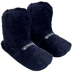 Thermo Sox Zapatillas Térmicas, calentables EN microondas EN el Horno, Talla Única M 36-40 - el Azul Marino