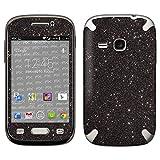 atFolix Samsung Galaxy Young (GT-S6310) Skin FX-Glitter-Black-Sky Designfolie Sticker - Reflektierende Glitzerfolie
