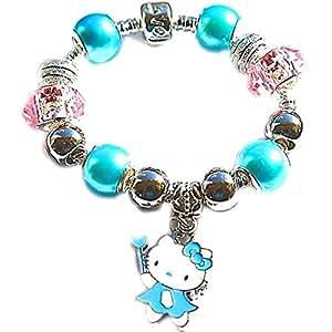 Charm Buddy enfants/finition pour enfants Hello Kitty Bracelet à breloques Pandora/Troll/Chamilia Perles # Cb-14