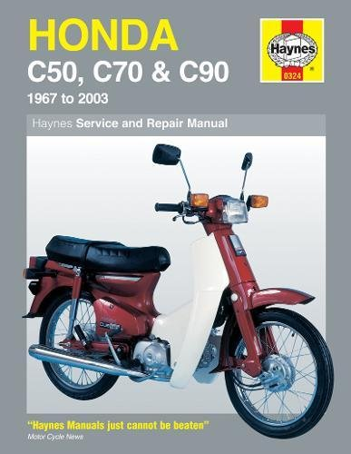 Honda C50, C70 & C90 (67 - 03) Haynes Repair Manual: 1967 to 2003 (Haynes Service and Repair Manuals)