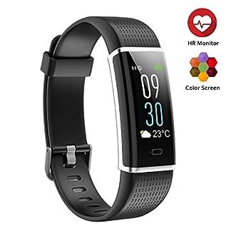 TwobeFit Pulsera Actividad, Pulsera Inteligente Pantalla Color HR con Pulsómetro Pulsera Deportiva y Monitor de Sueño de Actividad para Mujer Hombre Reloj Fitness Podómetro