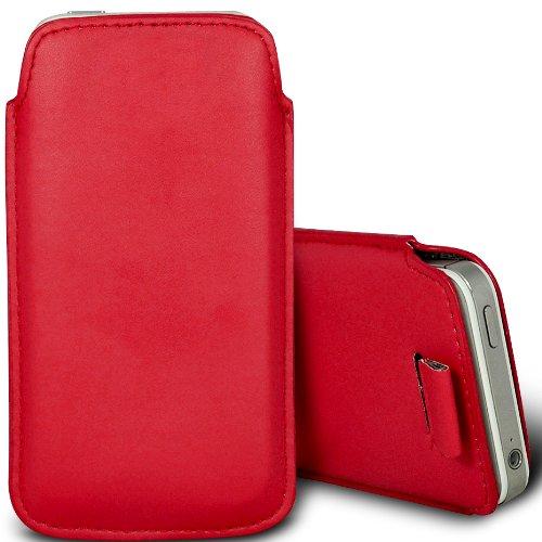 Brun/Brown - Jolla Jolla Mobile Phone Housse deuxième peau et étui de protection en cuir PU de qualité supérieure à cordon avec stylet tactile par Gadget Giant® Rouge/Red