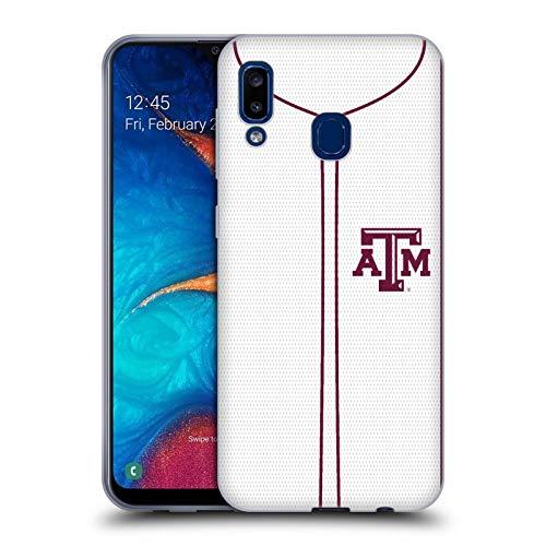 Head Case Designs Offizielle Texas A&M University TAMU Baseball-Jersey Soft Gel Huelle kompatibel mit Samsung Galaxy A20 / A30 (2019) University Of Texas-jersey