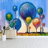 Wandbild, Wohnkultur 3D Kunstdruckpapier Abstrakte Wandmalerei Kinderzimmer, 366Cm (B) X 254Cm (H)